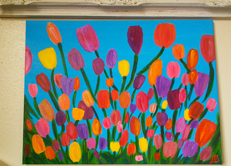colorful-tulips-painting