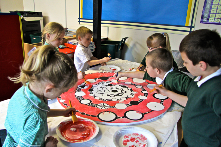 making-group-mandalas-kids