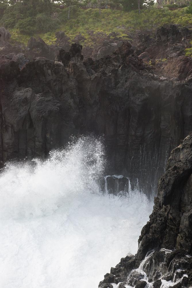 Jusangjeolli Cliff water crashing