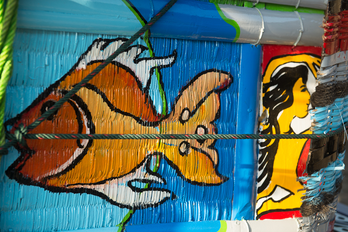 painted side of cowcart