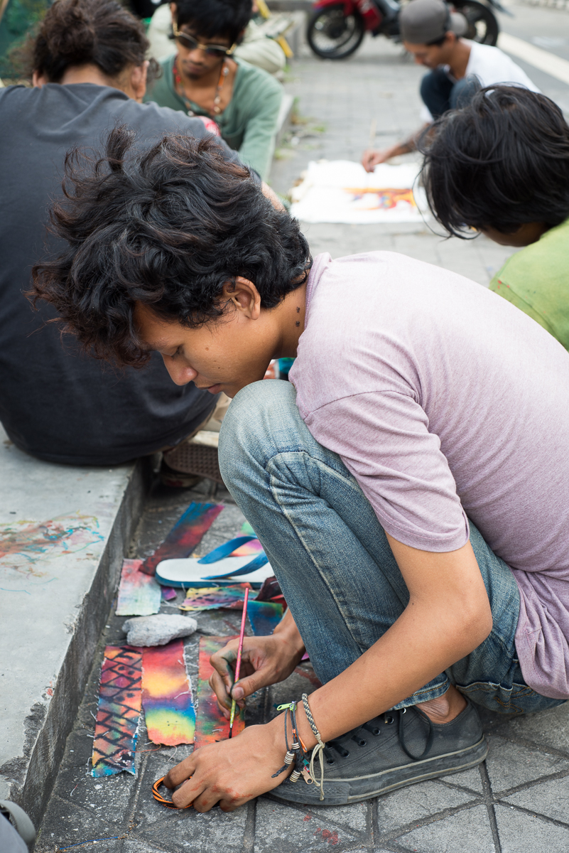 photographing batik artists