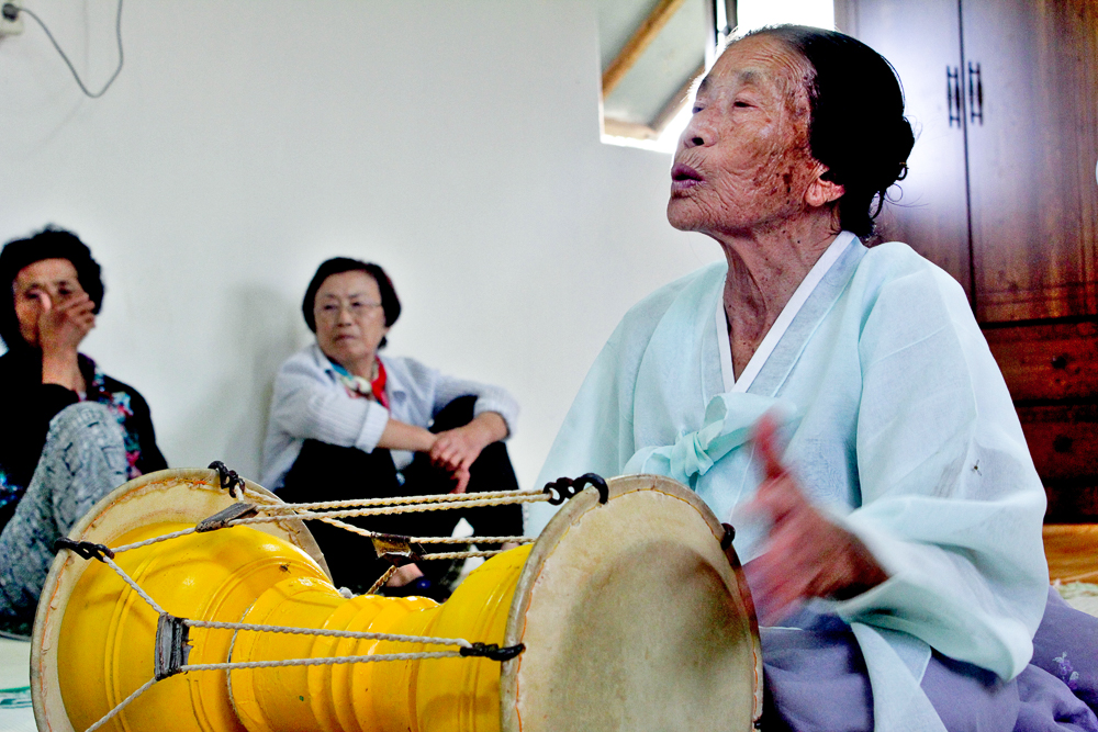 Jeju shaman practices in countryside