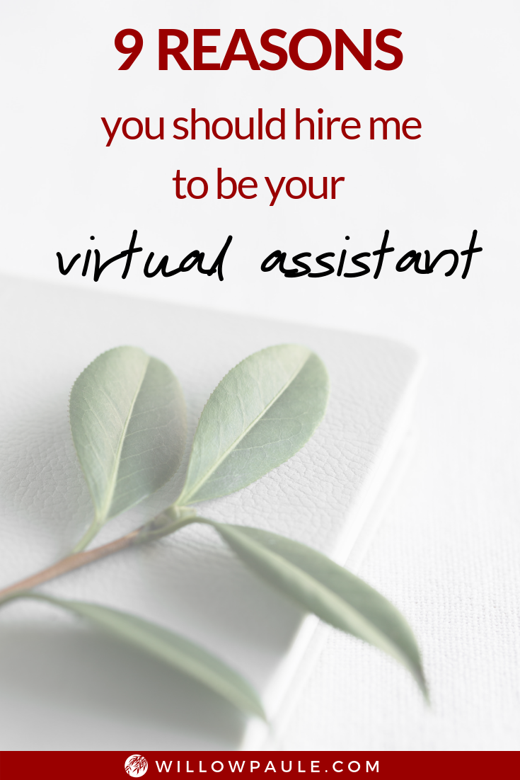 you should hire me to be your virtual assistant