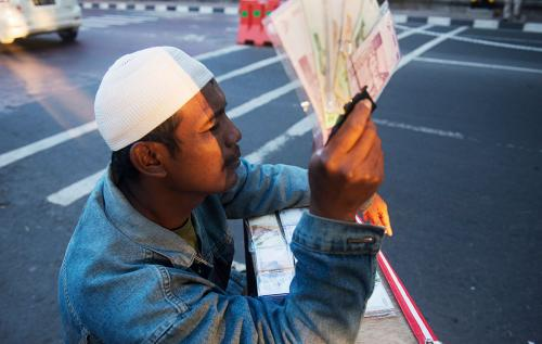 Pak Ambon, New Money Seller, Jogjakarta, Indonesia