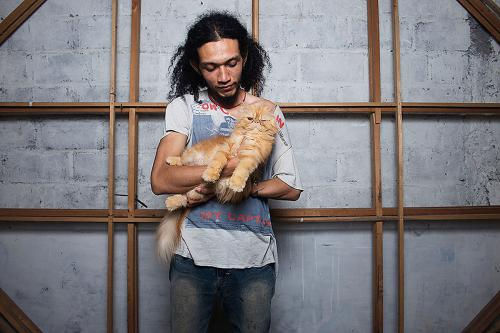 Khadir Supartini, the Cat Trader, Jogjakarta, Indonesia